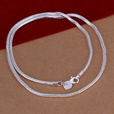 HOT 925 sterling silver 3mm Yi Gu necklace 16-24 inches optional F121