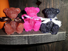 SCENTED WAX TARTS GRUBBY BEAR W/ RHINESTONE RIBBONS OVER 300 SCENTS TO CHOOSE