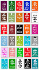 LARGE FRIDGE MAGNET - KEEP CALM AND...  (Multiple Designs Available)