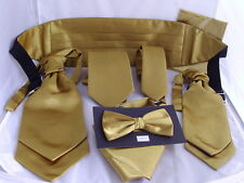 Shiny Polyester Gold Collection   Hankies - Bow ties -Cravats-Cummerbunds + Sets