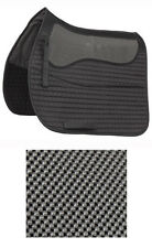 New Shires Black Full or Cob anti slip quilted saddle cloth airflow panel 266