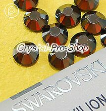 GENUINE Swarovski Satin Smoked Topaz (220SAT) Iron on ( Hot fix ) Rhinestone Gem