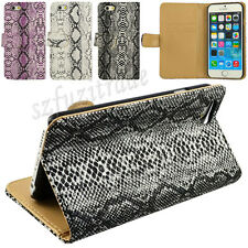 Snake Skin Fashion Folio Stand Wallet Leather Case Cover Skin For iPhone 6 4.7""