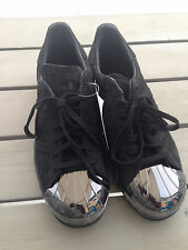 "Womens ADIDAS Superstar 80s Black/Black ""Metal Toe"" Limited Edition (New)"