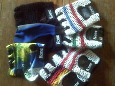 TRACK MITTS, STRING BACKED, CROCHET, LYCRA, TOWELING GLOVES