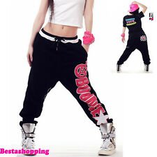 Hot Womens Harem Pants Casual Hip-Hop Jazz Dance Low Crotch Trousers Sweatpants