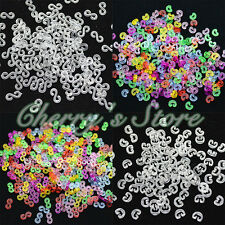 1000pc C-Clips S-Clips For Rainbow Loom Kit Rubber Bands Bracelet Making DIY