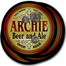 Archie Beer and Ale Coasters - 4pak - Great Gift