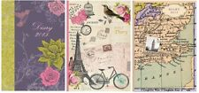 2015 Diary A5 Week to View Hard Backed Shabby Chic Vintage Designs - Choice of 3