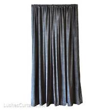Black Custom Pro Studio Sound Proof Drape Velvet Curtain 18ft H Extra Long Panel