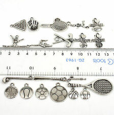 30pcs Sports Style Tibetan Silver Alloy Assorted shape Model Charms pendants New