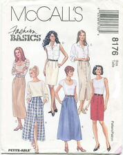 McCalls 8176 Misses Skirts Sewing Pattern ~ Straight ~ A-Line