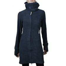 BENCH Long Fleece RV Mantel warme Damen Fleecejacke navy total eclipse