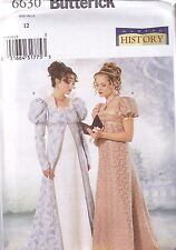 Buterick Sewing Pattern Misses' Victorian Titanic Regency Dress  6 - 22 B6630