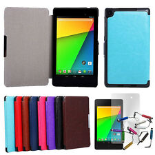 "For Google Nexus 7 2nd Gen 7"" 7 inch Magnetic Leather Case Cover + Film + Stylus"