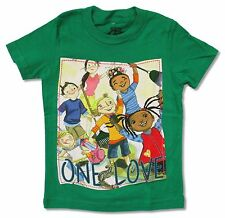 "ONE LOVE ""KIDS"" GREEN YOUTH TODDLER T-SHIRT NEW OFFICIAL BOB MARLEY CATCH A FIRE"