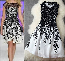 UK Size 6 8 10 12 14 16 18 Womens Celebrity Embroidery Lace Evening Party Dress