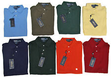RL Ralph Lauren Mens Custom Fit Mesh Short Sleeve Solid Casual Polo Rugby Shirt