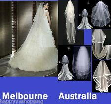 White/ivory bridal communion veil,hand made,send from Melbourne