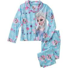 Disney Frozen ELSA & OLAF Flannel Coat Pajama PJ's Sleepwear 2pc Set Girls-NEW
