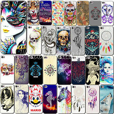 Doodle Style Painted Pattern Hard Back Case Cover For Apple iPhone 4 4S 5 5S 5C