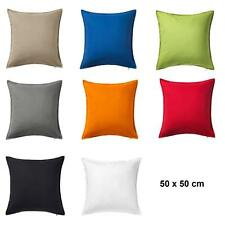 ikea kissenbezug gurli dekokissen sofakissen 50 x 50 cm in 8 farben. Black Bedroom Furniture Sets. Home Design Ideas