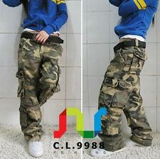 Women's Military Army Fashion camo Cargo Pocket Pants Leisure Trousers Outdoor