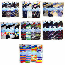 12 Pairs Of Men's Socks, Designer Cotton Rich Socks, Size 6-11