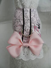 DOG CAT FERRET~Survivor HOPE BCA Breast Cancer PINK Ribbon Harness BOW & LACE
