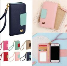 New Hot Wallet Card Holder Pouch Flip PU Leather Mobile Case Cover for iPhone