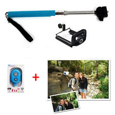 Selfie Monopod Extendable Handheld Holder + Bluetooth Remote Shutter For Phone