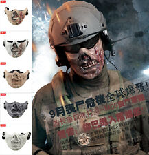 NEW Halloween Tactical Military Zombie Skull Skeleton Face Mask Hunting Costume