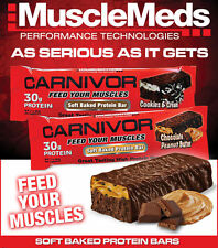 CARNIVOR PROTEIN BARS Soft Baked Tastes Like Candybar Box of 12 30g Protein