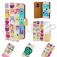 NEW OWL WALLET PU  LEATHER CASE COVER FOR VARIOUS PHONE + SCREEN PROTECTOR