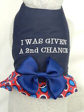DOG CAT FERRET Custom Rescue Harness~I WAS GIVEN A 2nd CHANCE Promote Adopt Bow