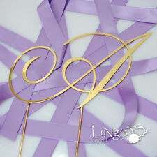 Clearance Monogram Gold Metal ODS Wedding Cake Topper Decoration