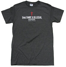 Christian T-shirt This Shirt Is Illegal in 53 Countries-Heather Gray