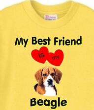 My Best Friend is my Beagle Dog T-Shirt Yellow - 5 Colors Available