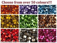 3mm ss12 Flat Back Round Resin Rhinestones Diamante Nail Art Crystal Craft Gems