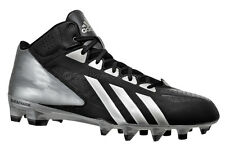 NEW ADIDAS FILTHYQUICK MID MENS FOOTBALL CLEATS - BLACK / SILVER - FILTHY QUICK