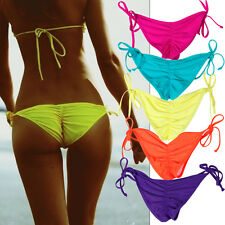 Womens sexy bathing suit bikini G-string semi cheeky brazilian bottom SML XL