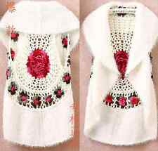 New Women Jacket Flower Vest T-shirt Cardigan Blouse Coat Sweaters Tops Outwear