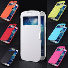 For Samsung Galaxy S4 I9500 Magnetic Flip Hard Cover PU Leather Smart Case Pouch