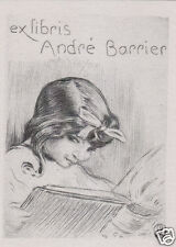 EX LIBRIS BOOKPLATE DI ANDRE BARRIER