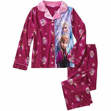 Disney Frozen ELSA ANNA Coat Pajama PJ's Sleepwear 2pc Set Girls 4/5 6/6X 7/8