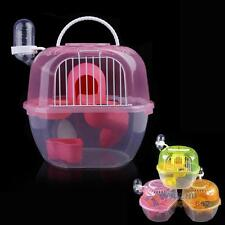 New 2 Level Hamster Gerbil Mouse House Cage Playhouse Nest Clear Plastic #F8s