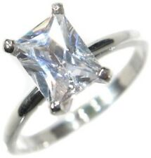 1.28CTW EMERALD CUT STONE SOLITAIRE RING size 9,10