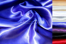 Satin Fabric by the Metre Decoration Wedding Sdeko Polyester Colour Choice Stock