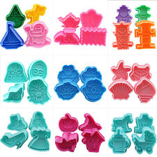New Fondant Cake Decorating Paste Cookie Biscuit Plunger Cutter Mold Mould Tools