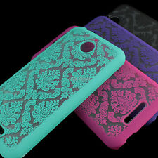 For HTC Desire 510 Color Damask Vintage Pattern Rubberized Matte Hard Case Cover